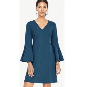 Ann Taylor V-neck Bell Sleeve Dress